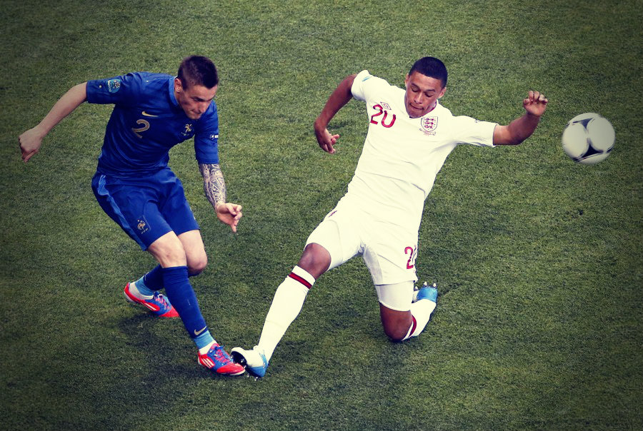 Alex Oxlade-Chamberlain playing for England