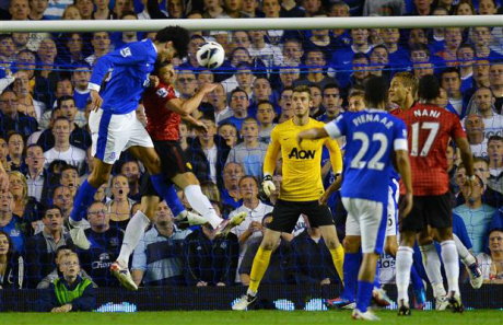 Marouane Fellaini Header vs United