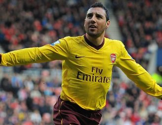 Santi Cazorla Arsenal Celebrating