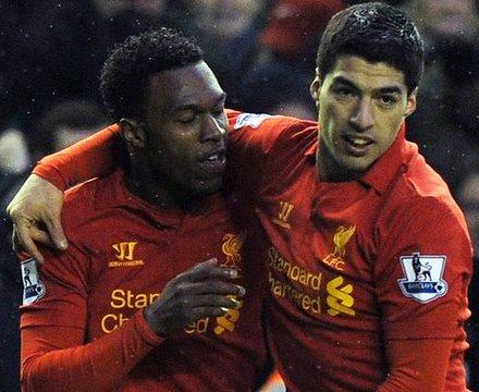 Sturridge and Suarez SAS Liverpool