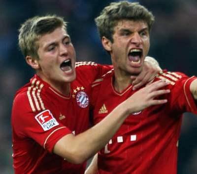 Thomas Muller Toni Kroos Bayern Munich