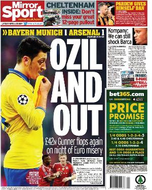 Daily Mirror Ozil