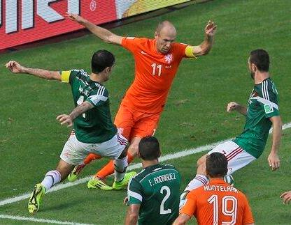 Arjen Robben Netherlands vs Mexico