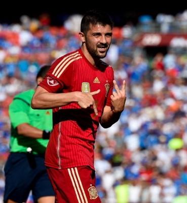 David Villa Spain 2014
