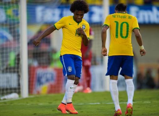 Willian Neymar Brazil