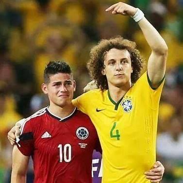 James Rodriguez David Luiz