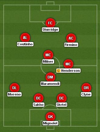 Illaramendi Liverpool XI