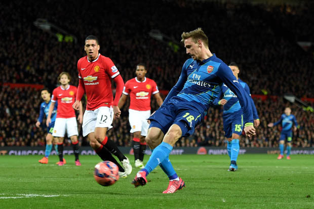 Monreal Goal vs Man United