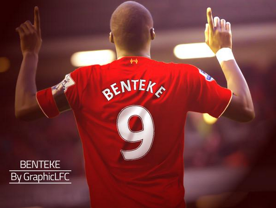Benteke as Liverpool no. 9