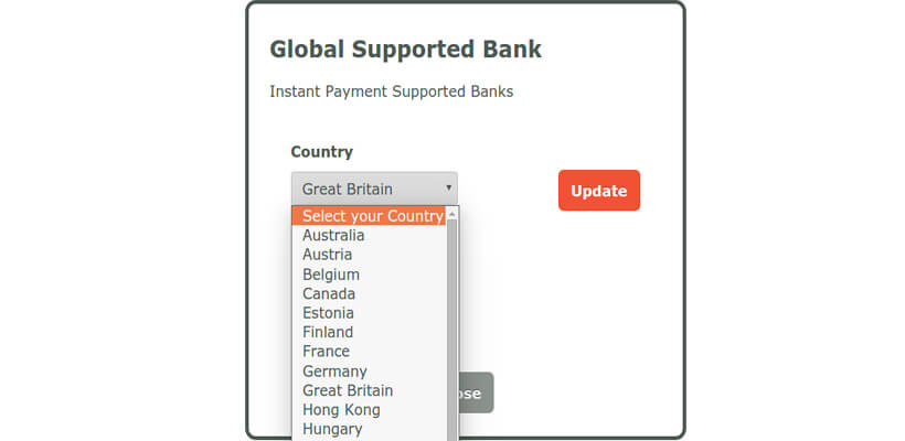 iDebit Countries