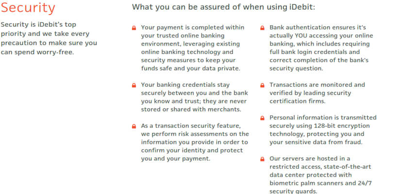 iDebit security