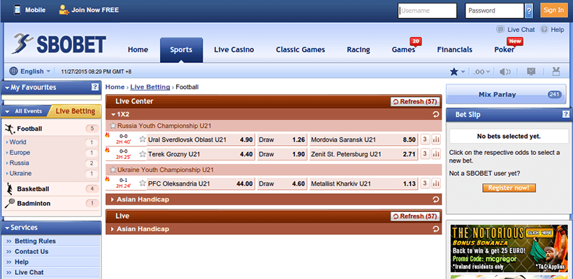Sbobet Bookmaker Review Odds And Free Bets